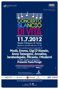 """A Torino (Stadio Olimpico) concerto """"SLAncio di vita"""""""