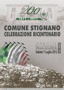 Bicentenario Comune di Stignano.