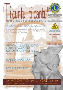 """""""Ti cuntu ti cantu"""": musica, teatro e poesia a Forza D'Agrò."""
