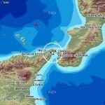 Terremoto di magnitudo (Ml) 2.2 nello Stretto di Messina.