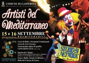 Artisti del Mediterraneo a Gasperina (Cz) il 15 e il 16 settembre.