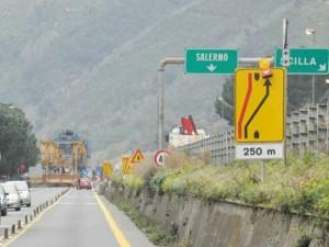 A3 Salerno-Reggio Calabria, Anas: limitazioni al traffico per lavori, all'altezza dello svincolo di Bagnara Calabra
