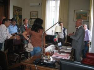Incontro stamani del Commissario Straordinario dell'ATM Santi Alligo con i sindacati dei lavoratori.