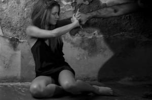 Un'immagine di Miss Italia contro la violenza sulle donne.