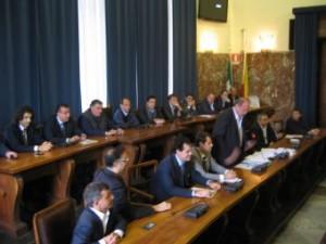 Conferenza stampa stamani a Palazzo Zanca del Consiglio Comunale sulla situazione finanziaria del Comune.