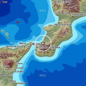 Terremoto magnitudo 4.4 nel distretto sismico Piana di Gioia Tauro