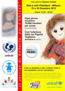 Milazzo. Il 15 e 16 dicembre, ritorna la Pigotta, la bambola di pezza dell'Unicef, finalizzata alla lotta contro la mortalità infantile.