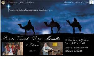 Presepe Vivente di Borgo Monalla a Zafferia il 26 dicembre 2012 e il 6 gennaio 2013.