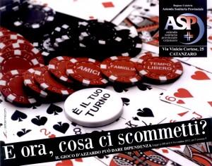 ASP Catanzaro: concocazione conferenza stampa sul tema del gioco d'azzardo patologico e sulle iniziative intraprese per dare attuazione alla recente normativa.
