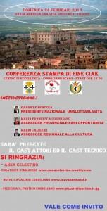 """Corigliano Calabro (Cs): conferenza stampa di presentazione dello spot promo-pubblicitario del film """"Giulia Montera, una vita spezzata""""."""