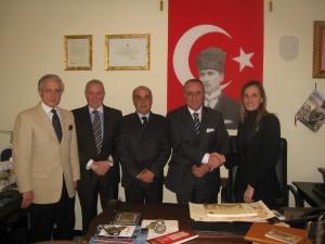 Gli assessori La Gamba e Comito della città di Vibo Valentia in visita al Console Generale Onorario di Turchia a Brindisi