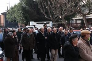 Catania. Piazza Montessori:sopralluogo del Sindaco
