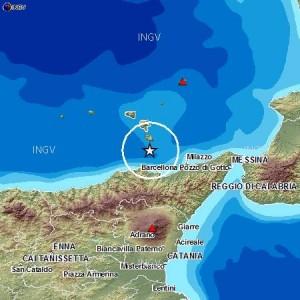Terremoto di magnitudo 3.4 in provincia di Messina.