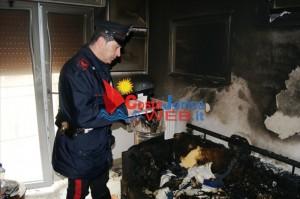 Trabia (Pa): Un uomo di 66 anni è deceduto a seguito di un incendio. Intervengo i Carabinieri.