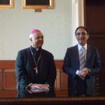 Catanzaro. Il Sindaco Abramo saluta l'Arcivescovo Bertolone che lascia la Diocesi di Catanzaro-Squillace.