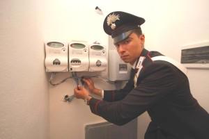 Carabinieri furto energia elettrica