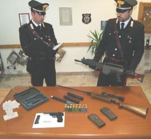 Grotteria (Rc). Un arresto dei Carabinieri per detenzione di armi.
