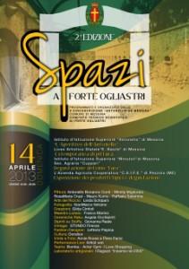 """Domenica a Forte Ogliastri la II Edizione di """"Spazi"""""""