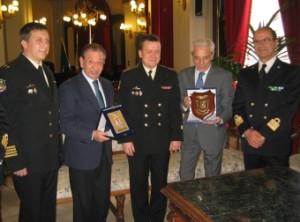 """Ricevuto e Croce hanno accolto il Comandante della nave """"Azov"""""""