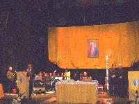 Il saluto del sindaco Certomà a mons. Fiorini Morosini all'inaugurazione della sua visita pastorale a Roccella