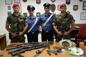 San Luca (Rc): rinvenute armi, munizioni e sostanza stupefacente.