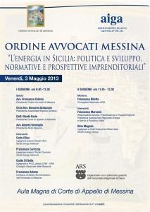 L'energia in Sicilia. Politiche di sviluppo, normativa e prospettive imprenditoriali