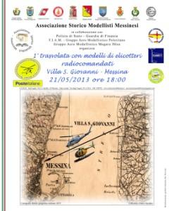 Martedì 21 prima trasvolata nello stretto di Messina con elicotteri radiocomandati.