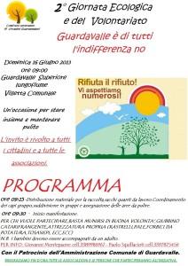 2° Giornata Ecologica e del Volontariato. Interventi di pulizia a Guardavalle Superiore.