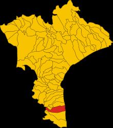 Badolato nel contesto provinciale mappa