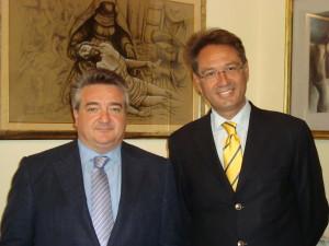 Il sindaco Campisi e l'assessore Calafato