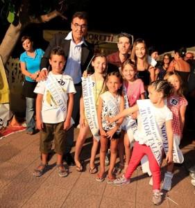 Patron Maurizio conigliaro e Salvo By Night con i piccoli vincitori