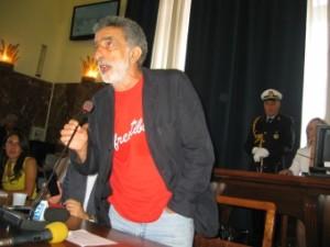 Intervento del sindaco Accorinti nella seduta di insediamento del consiglio comunale.
