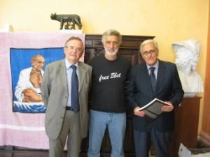 Il Presidente della Corte d'Appello Fazio ricevuto stamani a Palazzo Zanca dal sindaco Accorinti