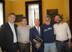 Messina. Visita del Rettore Navarra a Palazzo Zanca.