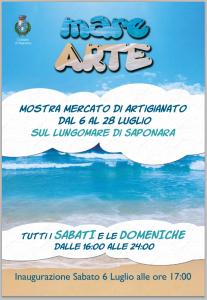 """Ultimo weekend con """"Mare Arte"""", gli artigiani tornano sul lungomare di Saponara Marittima"""