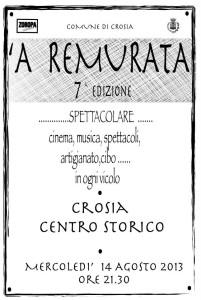 """Mercoledì 14 agosto nel centro storico di Crosia  """"A remurata""""."""