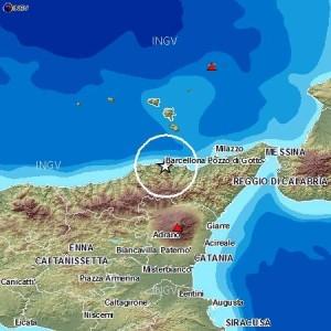 Due scosse sismiche in provincia di Messina.