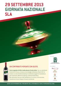 Sesta Giornata Nazionale SLA 2013. Un contributo versato con gusto.
