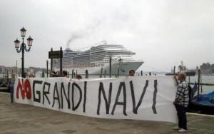 no grandi navi dentro venezia