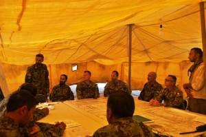 1. posto comando avanzato sotto tenda