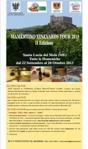 Poster Mamertino Vineyard Tour 2013