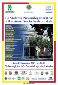 """Messina. Convegno su """"Le Malattie Neurodegenerative e il Sistema Socio Assistenziale"""". Sla e Alzheimer."""