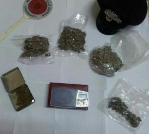 Gasperina (Cz): spacciatore in manette, aveve circa 320 grammi di marijuana.