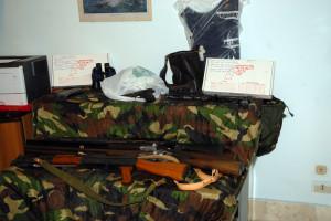 foto armi sequestrate