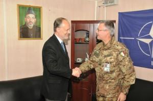 2. Il generale Michele Pellegrino incontra l'ambasciatore USA in Afghanistan