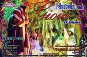 """""""Natale con gioia a Castanea"""": il presepe vivente sino al 6 gennaio."""
