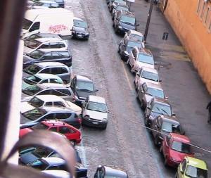traffico doppia fila