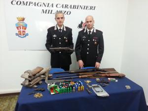 Milazzo (Me). Carabinieri: due arresti per detenzione illegale di armi  e ricettazione.