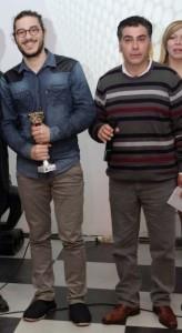Andrea Di  Bella vincitore nel canto con Giuseppe Oliva