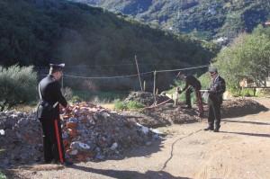 Gioiosa Marea (Me),Carabinieri sequestrano area ed un autocarro, 4 i denunciati.